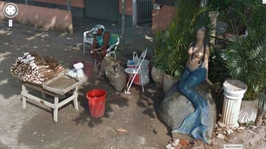Дивні фотографії з панорамних знімків Google Street
