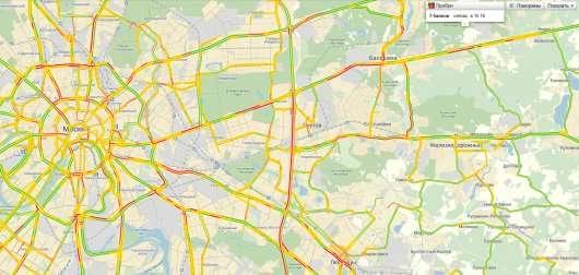 Пробки в Москві зараз